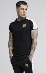 SIK SILK Pánske tričko  SikSilk S/S Panel Gym Farba: Čierna,