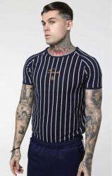 SIK SILK Pánske tričko SikSilk S/S Raglan Gym Tee - Navy & White