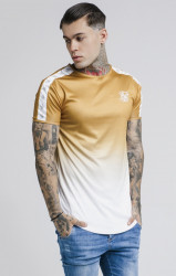 SIK SILK Pánske tričko SikSilk S/S Taped Fade Gym Tee Farba: Žltá,
