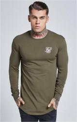 SIK SILK Pánske zelené tričko s dlhým rukávom SikSilk Long Sleeve Gym