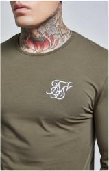 SIK SILK Pánske zelené tričko s dlhým rukávom SikSilk Long Sleeve Gym #1