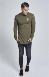 SIK SILK Pánske zelené tričko s dlhým rukávom SikSilk Long Sleeve Gym #2