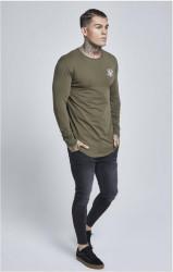 SIK SILK Pánske zelené tričko s dlhým rukávom SikSilk Long Sleeve Gym #3
