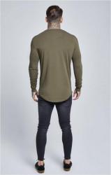 SIK SILK Pánske zelené tričko s dlhým rukávom SikSilk Long Sleeve Gym #4