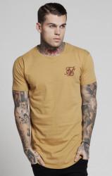 SIK SILK Pánske žlté tričko s krátkym rukávom SikSilk