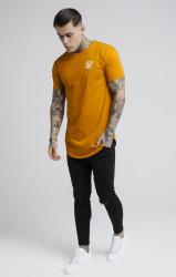 SIK SILK Tričko SikSilk S/S Curved Hem Farba: Oranžová, #2