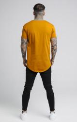 SIK SILK Tričko SikSilk S/S Curved Hem Farba: Oranžová, #3