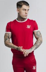 SIK SILK Tričko SikSilk S/S Taped Runner Farba: Červená,
