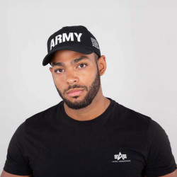Šiltovka Alpha Industries Army Cap Black - UNI