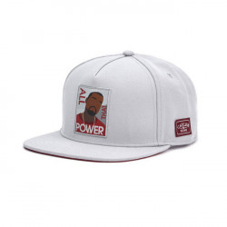 Šiltovka Cayler & Sons WHITE LABEL WL Power Cap grey / maroon - UNI