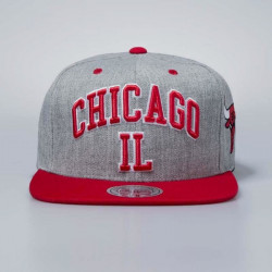 Šiltovka Mitchell & Ness cap snapback Chicago Bulls grey heather Side Panel Cropped - UNI