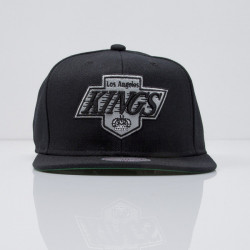 Šiltovka Mitchell & Ness cap snapback Los Angeles Kings black  WOOL SOLID NZ980 - UNI