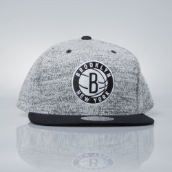 Šiltovka Mitchell & Ness snapback cap Brooklyn Nets grey heather / black EU957 GREY DUSTER - UNI