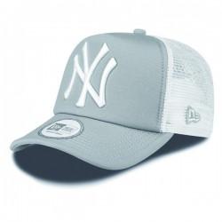 Šiltovka New Era 9Forty Trucker Clean T NY Grey White Cap