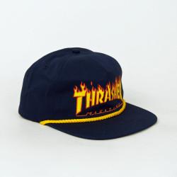 Šiltovka THRASHER - FLAME ROPE SNAPBACK CAP
