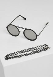Slnečné okuliare Urban Classics 104 Chain Sunglasses silver mirror/black