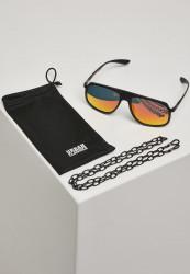 Slnečné okuliare Urban Classics 107 Chain Sunglasses Retro blk/yellow