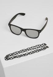 Slnečné okuliare Urban Classics Sunglasses Likoma Mirror With Chain black/silver Pohlavie: pánske,dámske