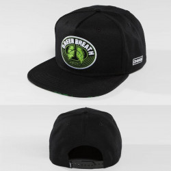 Snapback Dangerous DNGRS / Snapback Cap Green Breath in black