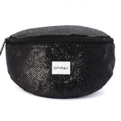 Spiral Black Glamour Bum Bag - UNI