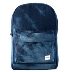 Spiral Bleached denim Backpack Bag Blue - UNI