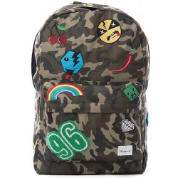 Spiral Camo Jungle Patch Backpack Bag - UNI