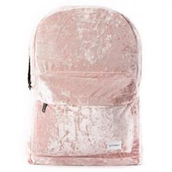 Spiral Crushed Velvet Blush Backpack Bag - UNI