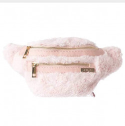Spiral Faux Fur Pink BL Label Bum Bag - UNI