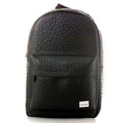 Spiral Ostrich Black Backpack Bag - UNI
