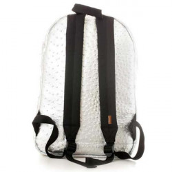 Spiral Ostrich Silver Backpack Bag - UNI #1