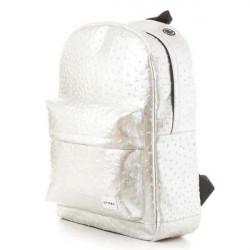 Spiral Ostrich Silver Backpack Bag - UNI #2