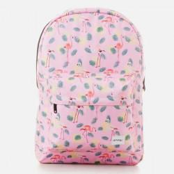 Spiral Pink Flamingo Backpack Bag - UNI