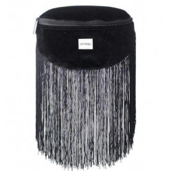 Spiral Velvet Tassels Black BL Label Bum Bag - UNI