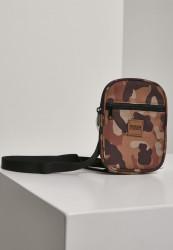 Taška cez rameno Urban Classics Festival Bag Small brown camo