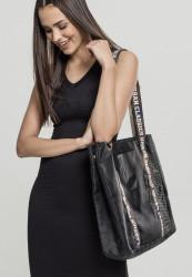Taška Urban CLassics Big Mesh Shopper With Bag In Bag čierna