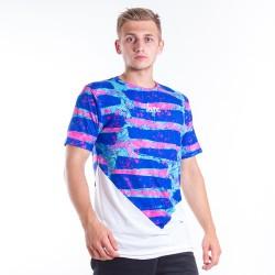 Tričko Hype Neon Lines Diamond White Blue Pink