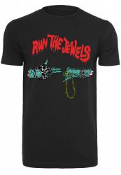 Tričko MERCHCODE Run The Jewels Logo Tee Farba: black,