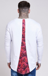Tričko Sik Silk Rose Racer Back White