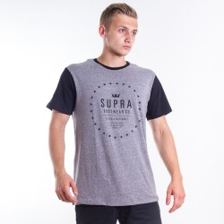 Tričko Supra Star Seal Grey Black