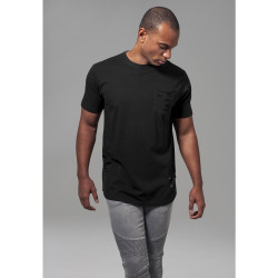 TRIČKO URBAN CLASSICS RIPPED POCKET BLACK