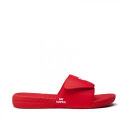 Unisex červené šľapky Supra Locker