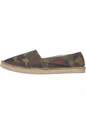 Unisex slip on Urban Classics Canvas Slipper wood camo