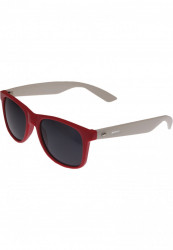 Unisex slnečné okuliare MSTRDS Groove Shades GStwo red/wht