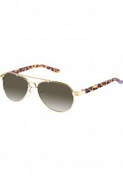 Unisex slnečné okuliare MSTRDS Mumbo Youth gold/brown