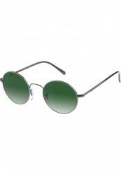 Unisex slnečné okuliare MSTRDS Sunglasses Flower gun/green