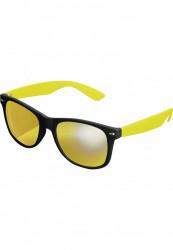 Unisex slnečné okuliare MSTRDS Sunglasses Likoma Mirror blk/ylw/ylw