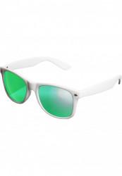Unisex slnečné okuliare MSTRDS Sunglasses Likoma Mirror white/green