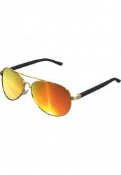 Unisex slnečné okuliare MSTRDS Sunglasses Mumbo Mirror gold/orange