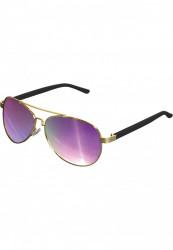 Unisex slnečné okuliare MSTRDS Sunglasses Mumbo Mirror gold/purple