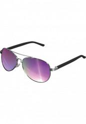 Unisex slnečné okuliare MSTRDS Sunglasses Mumbo Mirror silver/purple